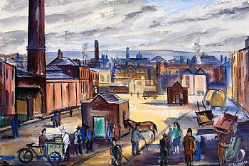 Norah McGuinness, Smithfield, Dublin at Morgan O'Driscoll Art Auctions