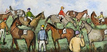Gladys MacCabe, Before the Race, Leopardstown at Morgan O'Driscoll Art Auctions