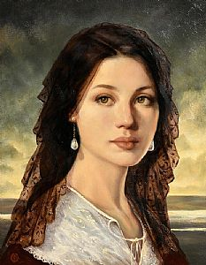 Ken Hamilton, Girl with Pearl Earrings at Morgan O'Driscoll Art Auctions