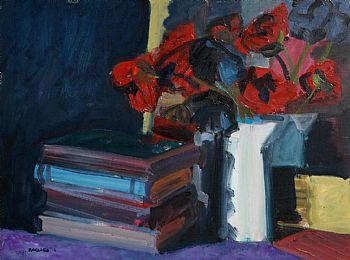 Brian Ballard, Poppies in a White Jug (2010) at Morgan O'Driscoll Art Auctions