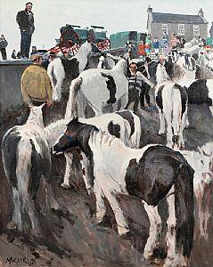 Cecil Maguire, Horse Fair, Ballinasloe (2005) at Morgan O'Driscoll Art Auctions