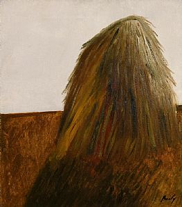 Haystacks at Killeshandra (1967) at Morgan O'Driscoll Art Auctions