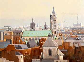 Trevor Geoghegan, Thomas Street Church (Seen from Guinness's) (2001) at Morgan O'Driscoll Art Auctions