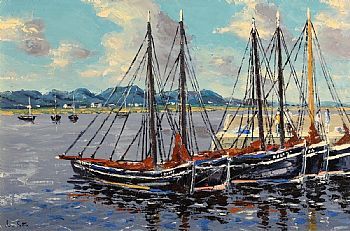 Ivan Sutton, Roundstone Harbour, Co Galway at Morgan O'Driscoll Art Auctions