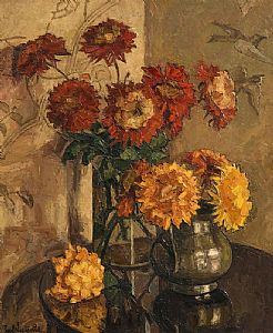 Paul Nietsche, Chrysanthemums at Morgan O'Driscoll Art Auctions
