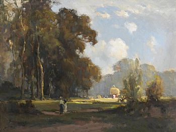 Frank McKelvey, Harvesting (c.1930) at Morgan O'Driscoll Art Auctions