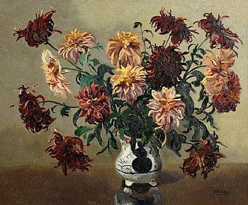 Ann Primrose Jury, Still Life - Flowers in a Vase at Morgan O'Driscoll Art Auctions