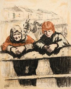 William Conor, Shawlie with Red Haired Girl at Morgan O'Driscoll Art Auctions