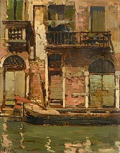Vincenzo Irolli, Canal in Venice at Morgan O'Driscoll Art Auctions