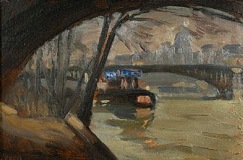 William John Leech, Tug on the River Thames at Morgan O'Driscoll Art Auctions