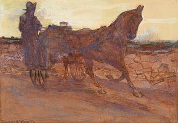 Jack Butler Yeats, Homeward Bound (c.1905) at Morgan O'Driscoll Art Auctions