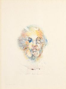 Louis Le Brocquy, Study Towards an Image of William Shakespeare (1982) (Opus W629) at Morgan O'Driscoll Art Auctions