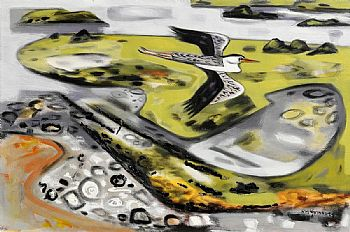 Norah McGuinness, Flight Over Mulroy at Morgan O'Driscoll Art Auctions