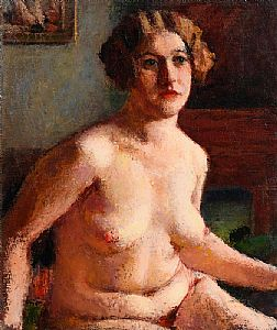 Roderic O'Conor, Seated Nude - (Renee Honta)(c.1923-26) at Morgan O'Driscoll Art Auctions