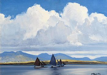 Cecil Maguire, The Twelve Bens from Roundstone at Morgan O'Driscoll Art Auctions