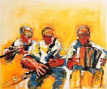 John Brian Vallely, Three Musicians at Morgan O'Driscoll Art Auctions