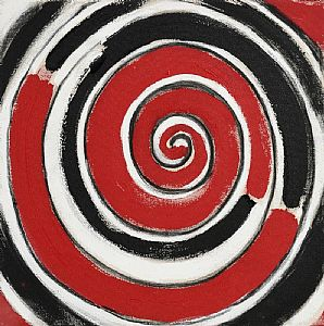 Sir Terry Frost, R, B and W Spiral for 00 (2000) at Morgan O'Driscoll Art Auctions