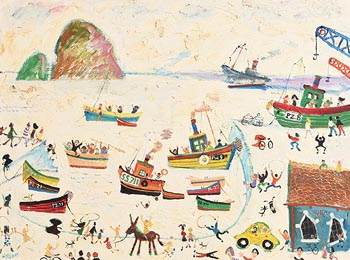 Simeon Stafford, Boats in the Bay at Morgan O'Driscoll Art Auctions