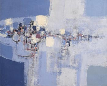 Brian Ferran, Blue Landscape at Morgan O'Driscoll Art Auctions