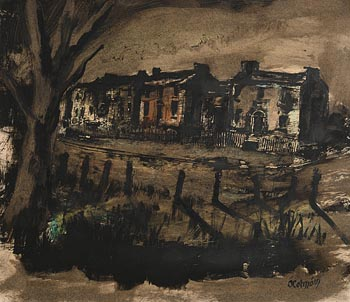 Seamus O'Colmain, Grand Canal, Dublin at Morgan O'Driscoll Art Auctions