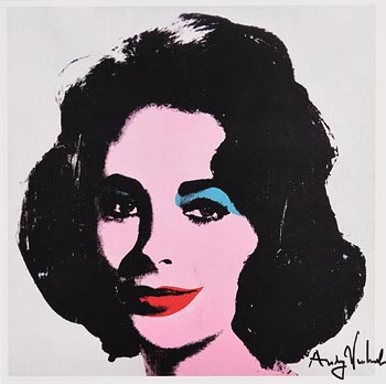 Andy Warhol, Liz at Morgan O'Driscoll Art Auctions