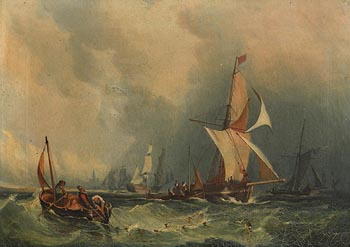John Fitzhenry Townshend, Shipping Offshore at Morgan O'Driscoll Art Auctions