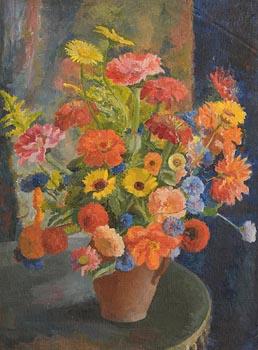 Moyra Barry, Still Life - Flowers at Morgan O'Driscoll Art Auctions