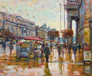 Norman Teeling, O'Connell Street, Dublin at Morgan O'Driscoll Art Auctions