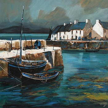 J.P. Rooney, Roundstone Harbour at Morgan O'Driscoll Art Auctions