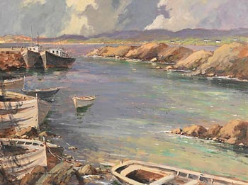 George Gillespie, Bunbeg Harbour, Co. Donegal at Morgan O'Driscoll Art Auctions