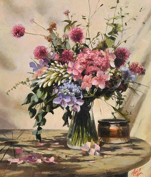 Mat Grogan, Still Life - Summer Flowers at Morgan O'Driscoll Art Auctions