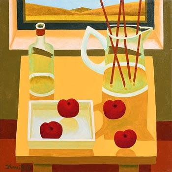 Graham Knuttel, Still Life on Tabletop at Morgan O'Driscoll Art Auctions