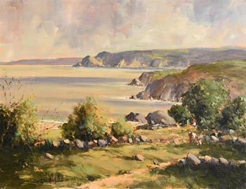 George K. Gillespie, Co. Antrim Coastline at Morgan O'Driscoll Art Auctions