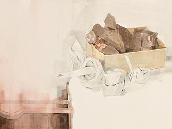 Terence P. Flanagan, Preparing the Hearth (1993) at Morgan O'Driscoll Art Auctions
