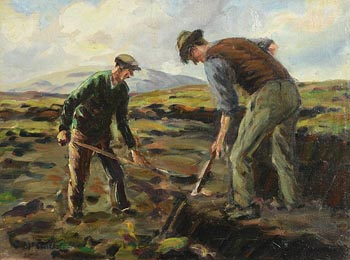 Charles J. McAuley, Turf Cutters at Morgan O'Driscoll Art Auctions