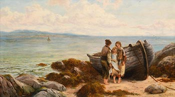 Thomas Rose Miles, Irish Fisher Children at Morgan O'Driscoll Art Auctions