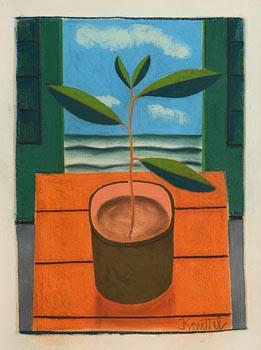Graham Knuttel, Still Life - Plant at Morgan O'Driscoll Art Auctions