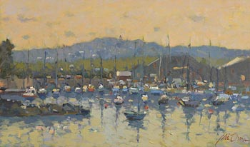 Liam Treacy, The Avoca River at Arklow at Morgan O'Driscoll Art Auctions