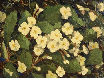 Mabel Young, Primroses at Morgan O'Driscoll Art Auctions