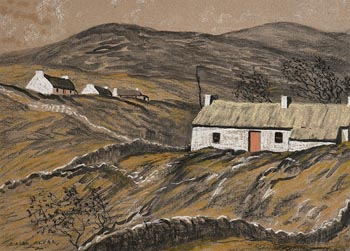 Ciaran Clear, Whitewash Cottages at Morgan O'Driscoll Art Auctions