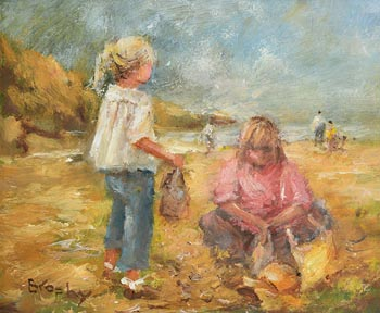 Elizabeth Brophy, Beach Picnic at Morgan O'Driscoll Art Auctions