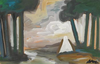 Markey Robinson, Cottage by the River at Morgan O'Driscoll Art Auctions