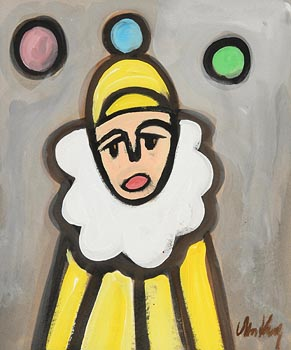 Markey Robinson, Yellow Clown at Morgan O'Driscoll Art Auctions
