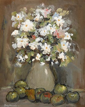 Gladys MacCabe ROI FRSA MA HRUA (1918-2018), Still Life - Flowers and Fruits at Morgan O'Driscoll Art Auctions