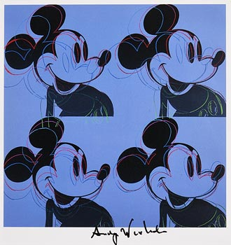 Andy Warhol, Mickey Mouse (1982) at Morgan O'Driscoll Art Auctions