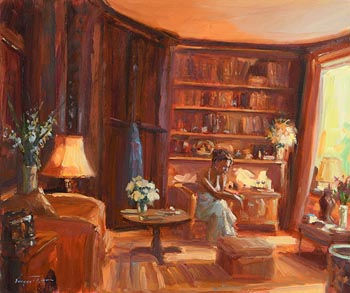 Norman Teeling, In the Drawing Room at Morgan O'Driscoll Art Auctions