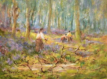Elizabeth Brophy, In the Bluebell Wood at Morgan O'Driscoll Art Auctions