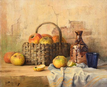 Robert Chailloux, Fruit Basket and Wine Carafe at Morgan O'Driscoll Art Auctions