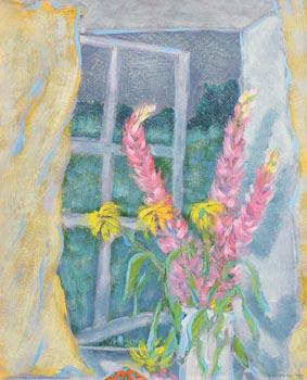Jane O'Malley, Summer Field, Summer Flowers (1985) at Morgan O'Driscoll Art Auctions