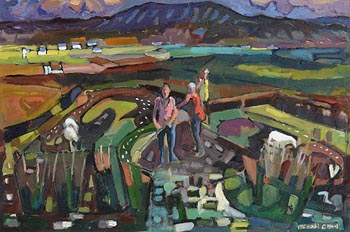 Michael O'Neill, In The Fields at Morgan O'Driscoll Art Auctions